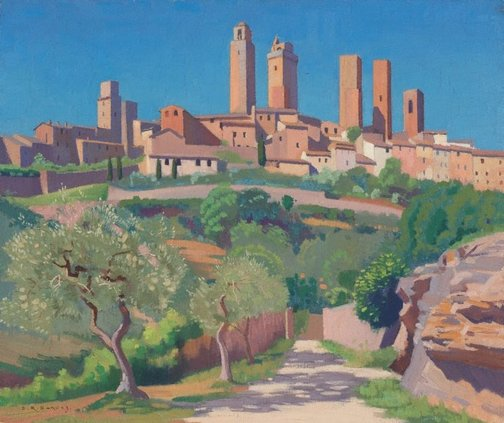 An image of The towers of San Gimignano by Douglas Dundas