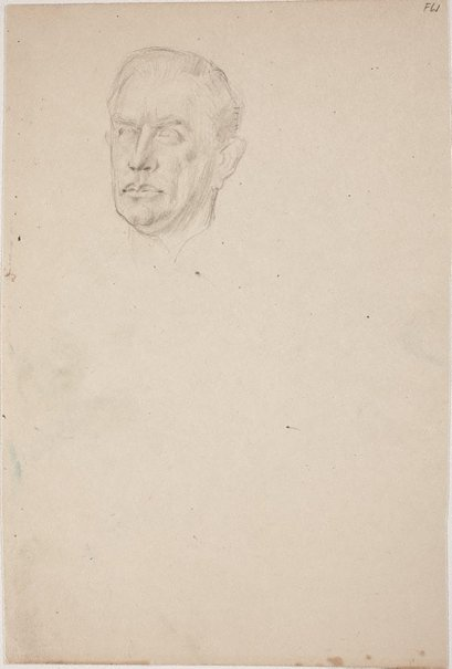 An image of (Portrait study of a man's head) (Late Sydney Period) by William Dobell