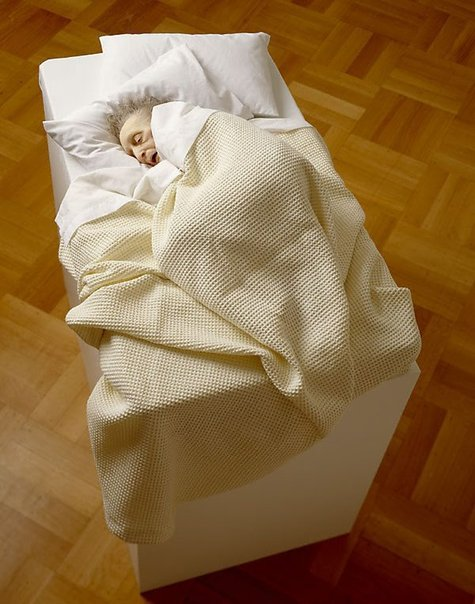 An image of Untitled (old woman in bed) by Ron Mueck