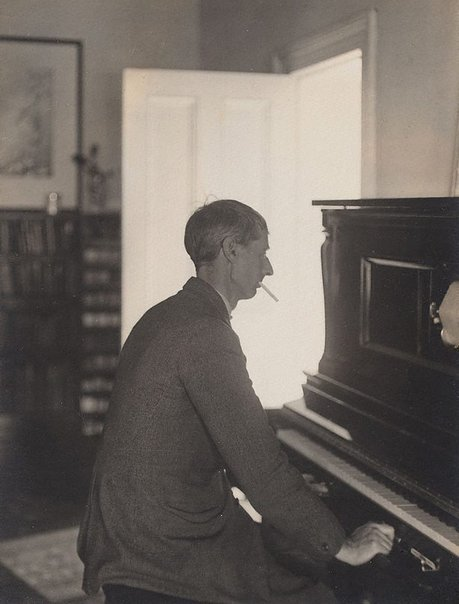 An image of Untitled (Portrait of Norman Lindsay at the pianola) by Harold Cazneaux