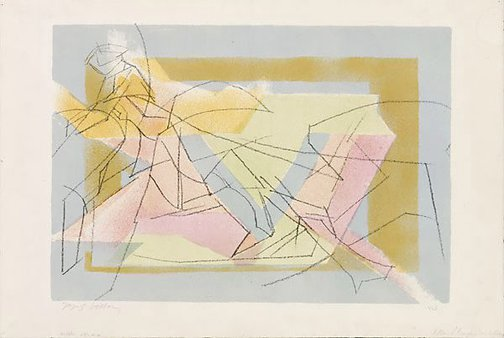 An image of L'écuyère dans le cirque by Jacques Villon