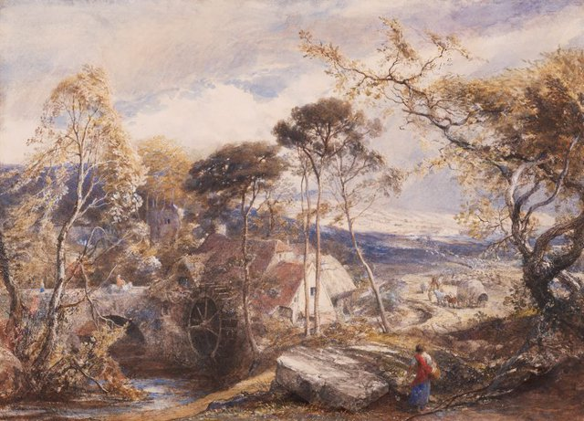An image of Landscape with watermill