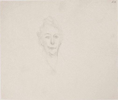 An image of (Portrait study of a woman's head) (Late Sydney Period) by William Dobell