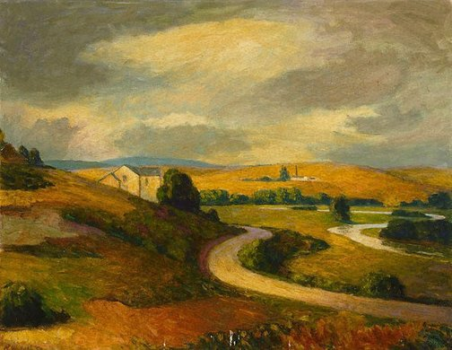 An image of Yarra Valley, Summer by Roland Wakelin
