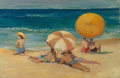 An image of Beach umbrellas by Nancy Kilgour