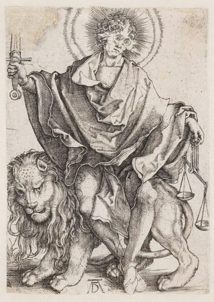 An image of Sol Justiae (Christ as the Sun of Justice) by Albrecht Dürer