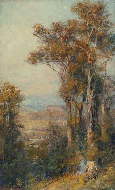 An image of Landscape by Frederick McCubbin