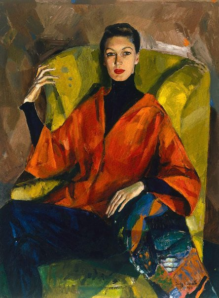 An image of Portrait of Judy Barraclough by Judy Cassab