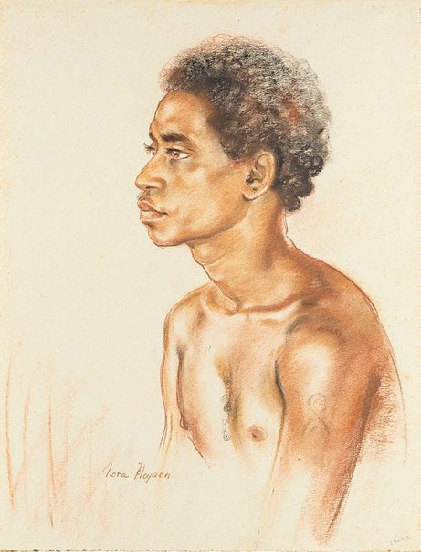 An image of Moulasi, New Guinea by Nora Heysen