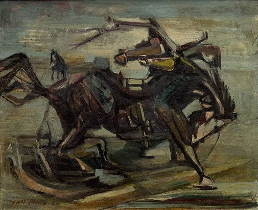 An image of Rider leaves a horse by Carl Plate