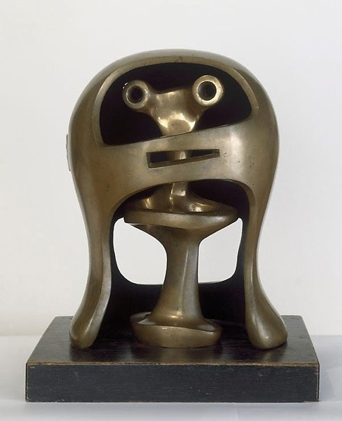 An image of Helmet head no. 2 by Henry Spencer Moore