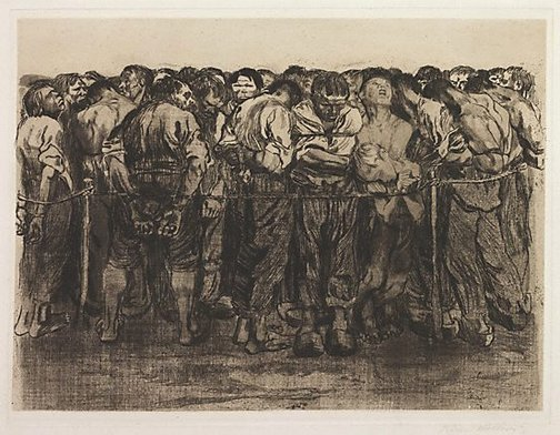 An image of The prisoners by Käthe Kollwitz