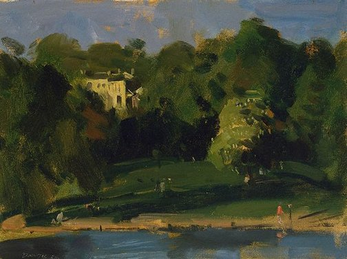 An image of Evening, Hampstead Heath by William Dargie
