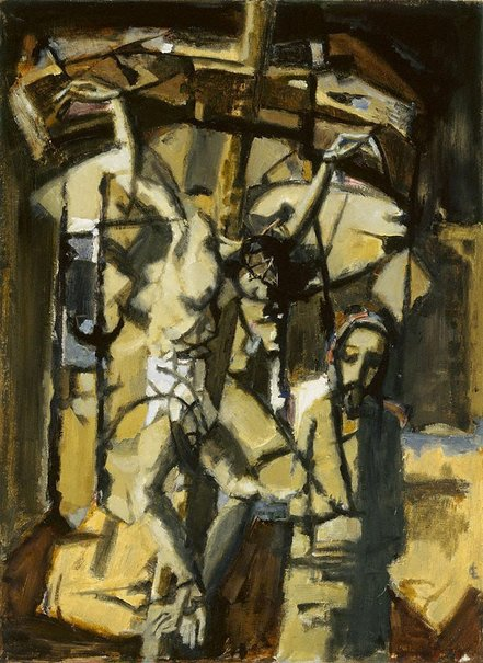 An image of The crucifixion by Robert Curtis