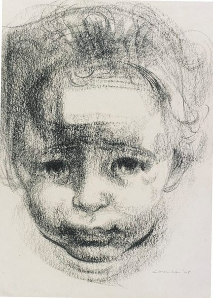 An image of Study for lithograph 'A child's head' by Noel Counihan