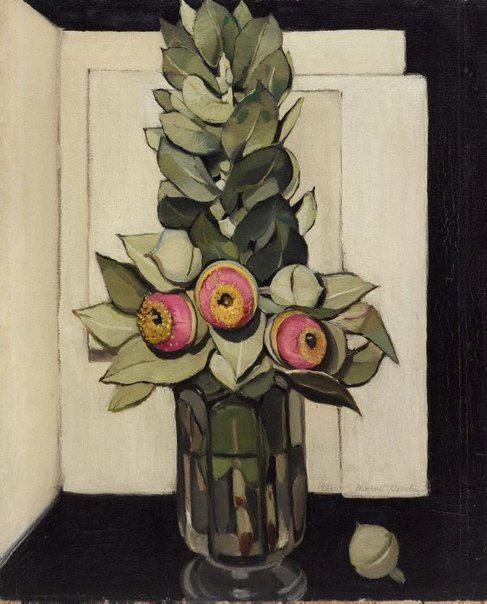 An image of Western Australian gum blossom by Margaret Preston