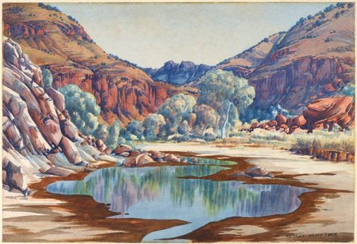 An image of Palm Valley by Albert Namatjira