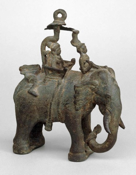 An image of Elephant with riders by
