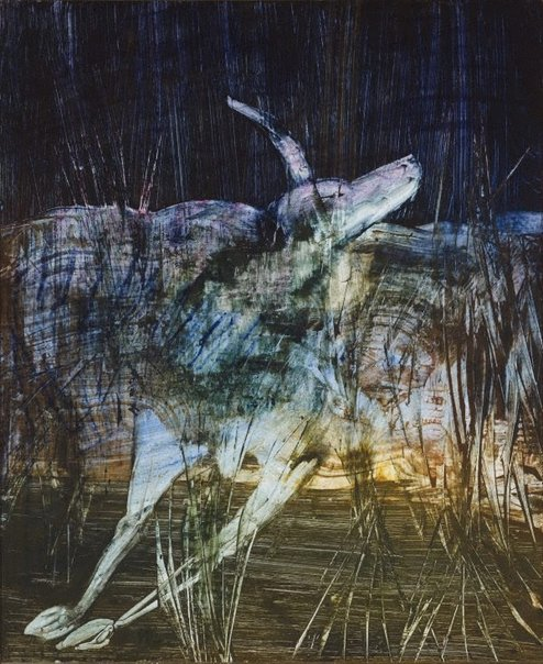 An image of Animal in swamp by Sidney Nolan
