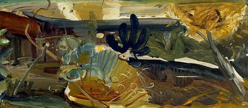 An image of Evening pool by Ivon Hitchens