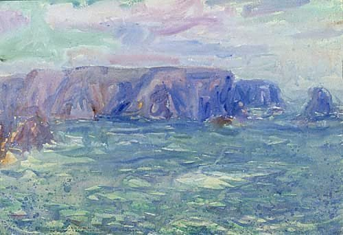 An image of recto: Belle-Ile verso: (Landscape study) by John Peter Russell