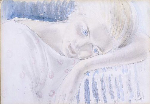 An image of Girl resting by Mildred Lovett