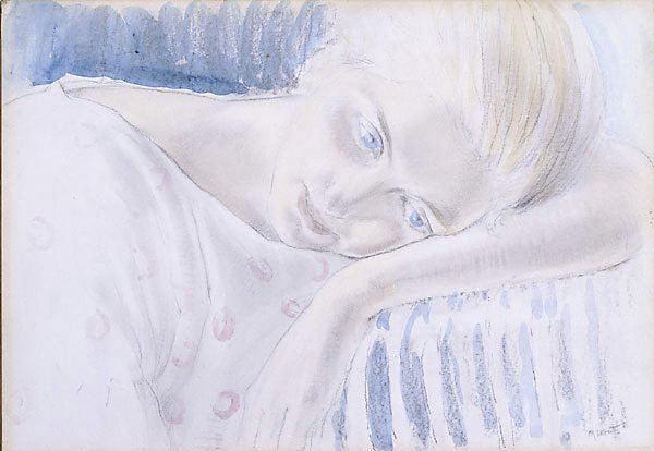 An image of Girl resting