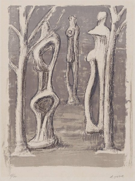 An image of Trees by Henry Spencer Moore