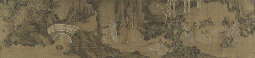 An image of Scholars gathering at the Western Garden by Jianlong Gu