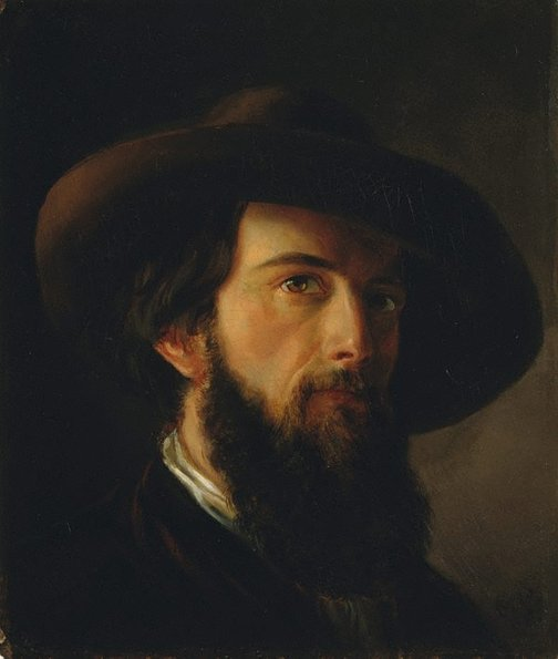 An image of Self portrait by Nicholas Chevalier
