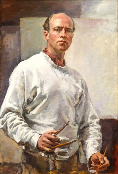 An image of Self portrait by Ivor Hele