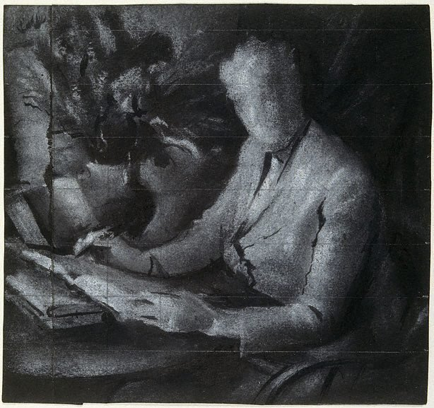 "An image of Study for ""Dame Mary Gilmore"""