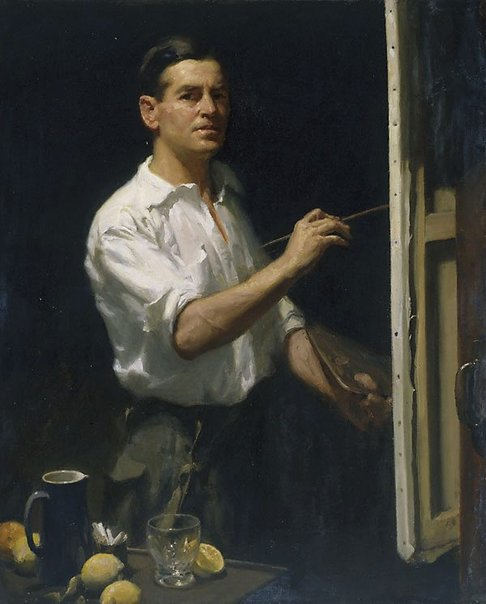 An image of Self portrait by W B McInnes