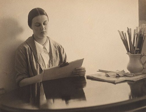 An image of Nora Heysen by Harold Cazneaux