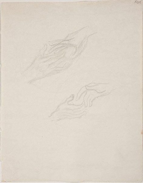 An image of (Study of hands) (Late Sydney Period) by William Dobell