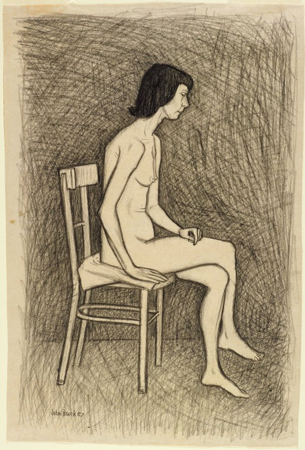 An image of Study for 'Nude with two chairs' no 2