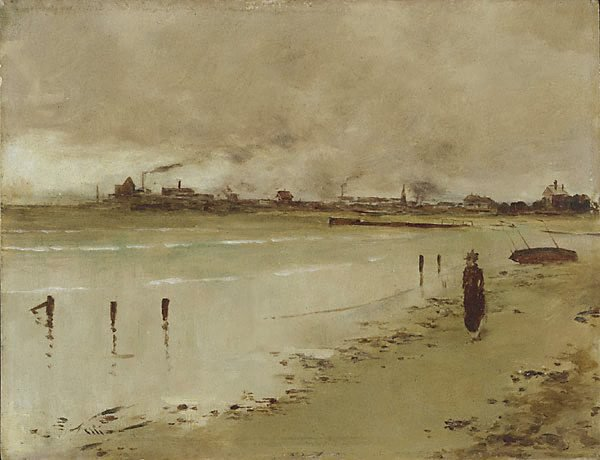 An image of Beach scene, Hobson's Bay