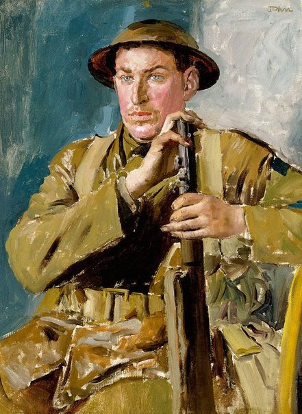 An image of Canadian soldier by Augustus John OM