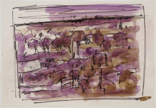 An image of Untitled (landscape) by Roger Kemp