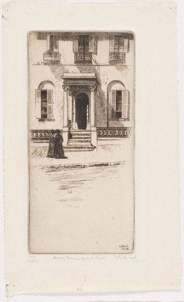 An image of Doorway Freeman's Journal Lang St. by Sydney Ure Smith