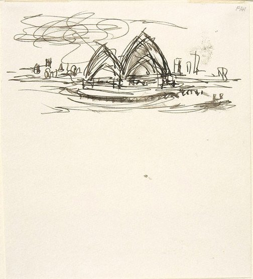 An image of (Opera House) (Late Sydney Period) by William Dobell