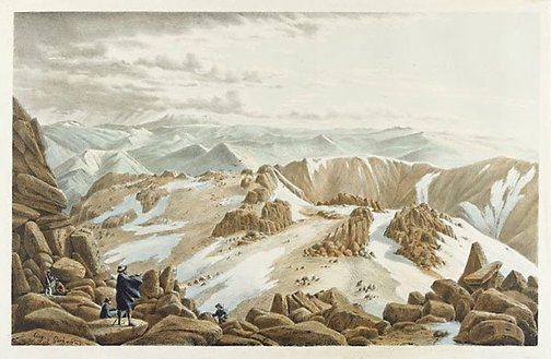 An image of North east view from the top of Mount Kosciusko, New South Wales by Eugene von Guérard
