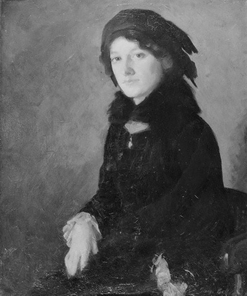 An image of Lady in black by George Bell