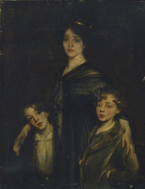 An image of Mother and sons by James Quinn