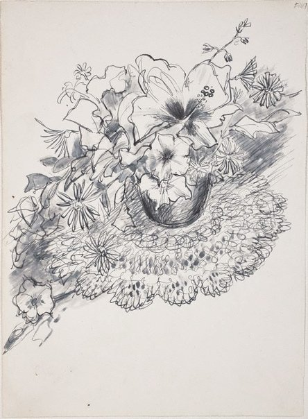 An image of (Flower study) (Late Sydney Period) by William Dobell