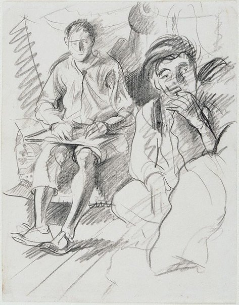 An image of The artist and William Dobell, London by Eric Wilson