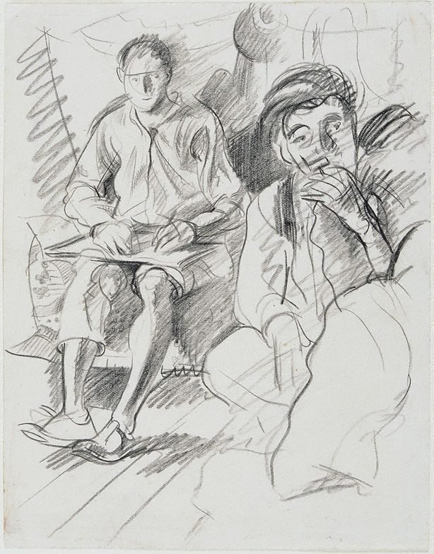 An image of The artist and William Dobell, London