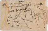 Alternate image of recto: Cubist still life verso: Map of roads near Bapaume by Eric Wilson