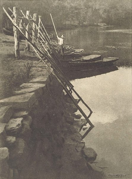 An image of Boats, Berowra Creek by W.H. Moffitt