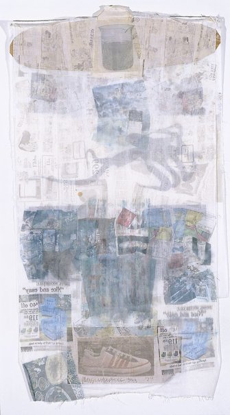 An image of Mule by Robert Rauschenberg